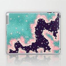 Pink and Mint Rift Galaxy (8bit) Laptop & iPad Skin