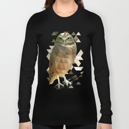 Burrowing Owl - Low Poly Technique Long Sleeve T-shirt