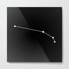 ARIES (BLACK & WHITE) Metal Print