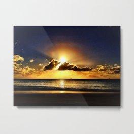 Caribbean Sunset - Antigua & Barbuda Metal Print