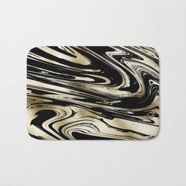 Chic modern abstract black gold stylish marble Bath Mat