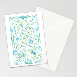 Three Turtles Swimming Stationery Cards