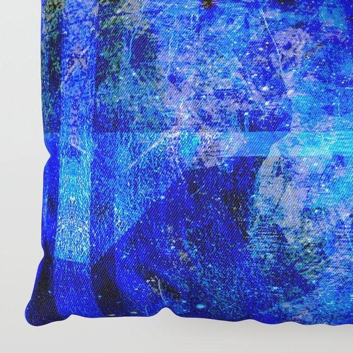 Sapphire Nebulæ Floor Pillow