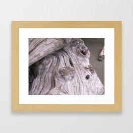 zen driftwood 2 Framed Art Print