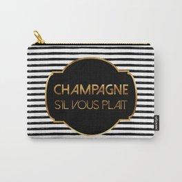 Champagne S'il Vous Plait Carry-All Pouch