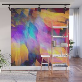 Colourful abstract with leaf shapes Wall Mural