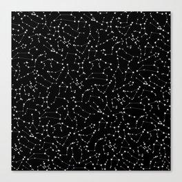 Zodiac Star Constellations Pattern Canvas Print