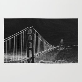 Golden Gate Abstract Rug