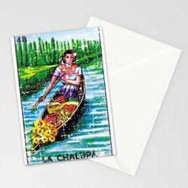 La Chalupa Mexican Loteria Bingo Card Stationery Cards