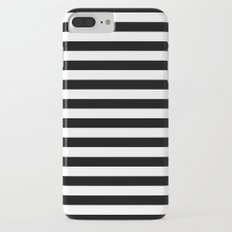 Modern Black White Stripes Monochrome Pattern iPhone 7 Plus Slim Case