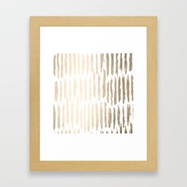 White Gold Sands Vertical Dash Framed Art Print