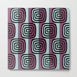 Mid Century Modern Concentric Pattern 244 Metal Print