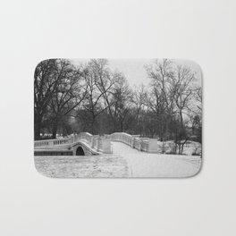Winter Solitude - St. Louis Snowy Bridge Bath Mat