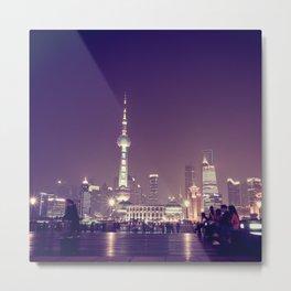 Shanghai Night Metal Print
