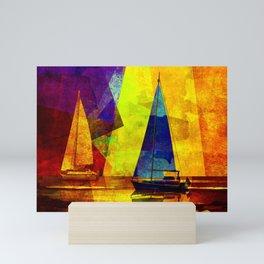 Evening sailing Mini Art Print