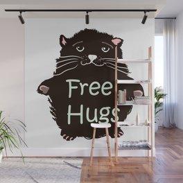 Free hugs. Cute kitty Wall Mural