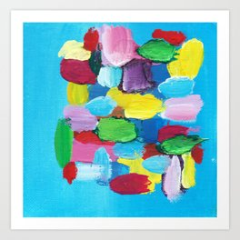 Colorful Day Abstract Art Print