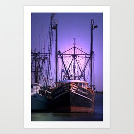 Fishing Boat in the Morning Art Print