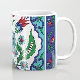 Turkish Tile Pattern – Vintage iznik ceramic with tulips Coffee Mug
