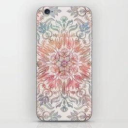 Autumn Spice Mandala in Coral, Cream and Rose iPhone Skin