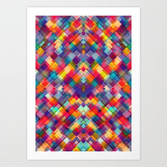 Squares Everywhere Art Print