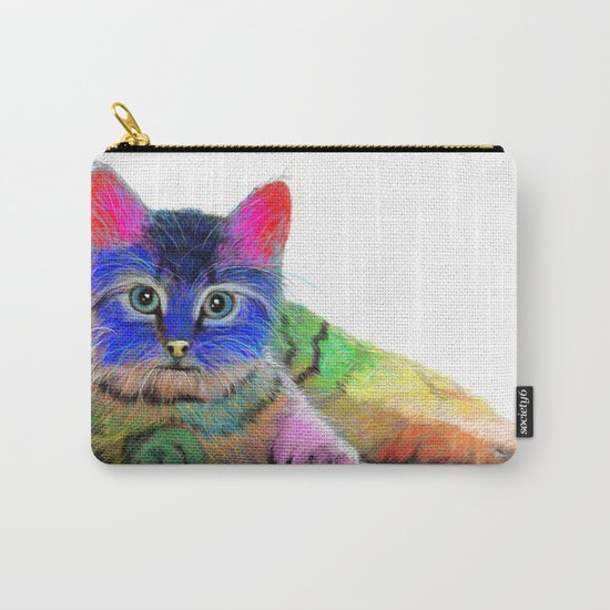 Colorful Cat Carry-All Pouch