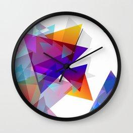 Kaleidoscopic Fragments Wall Clock