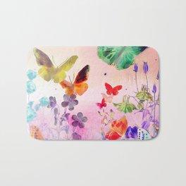 Blush Butterflies & Flowers Bath Mat