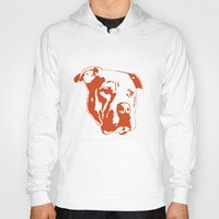 pitbull Hoodies featuring COACH - ORANGE by Kirk Scott