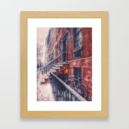 First NYC Snowfall of 2017 Framed Art Print