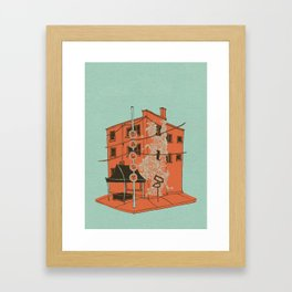Dally in the Alley Framed Art Print