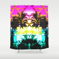 hawaiian Shower Curtains featuring Hawaiian Quilt by The Digital Weaver