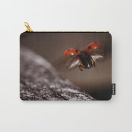 Ladybird in flight Carry-All Pouch