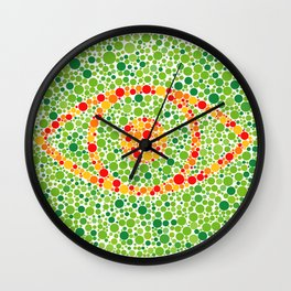 Colour Blindness Eye Wall Clock