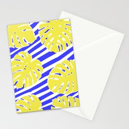 Monstera Leaf - Matisse Inspired Tropical Collage Pattern Stationery Cards