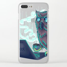 Night bird coffee lov Clear iPhone Case