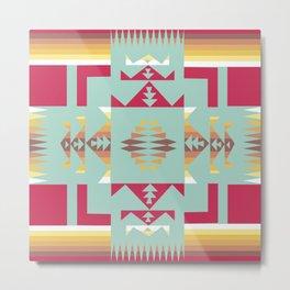 American Native Pattern No. 188 Metal Print