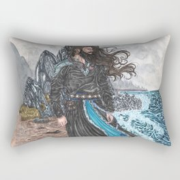 Njord Lord of the tides Rectangular Pillow