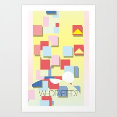WHOFARTED? Art Print