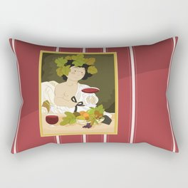 Bacco by Caravaggio Rectangular Pillow