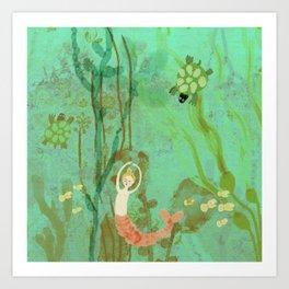 LuLu and the Turtles by Sarah Kiser Art Print