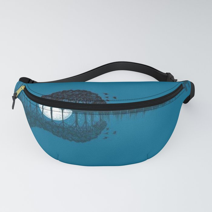 Trees sea and the moon turned guitar Fanny Pack