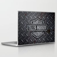 sons of anarchy Laptop & iPad Skins featuring SAMCRO Teller-Morrow of Charming (Sons of Anarchy / Harley-Davidson) by HuckBlade