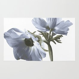 Single flower print - Blue Poppy Rug