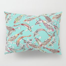 lucky koi blue Pillow Sham