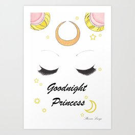 Goodnight Princess Art Print