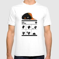 Brain Damage Mens Fitted Tee White LARGE