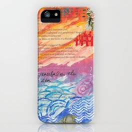 Peaceful As The Sea iPhone Case