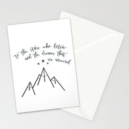 ...The dreams that are answered. Stationery Cards