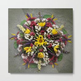 Nature Mandala: May Metal Print